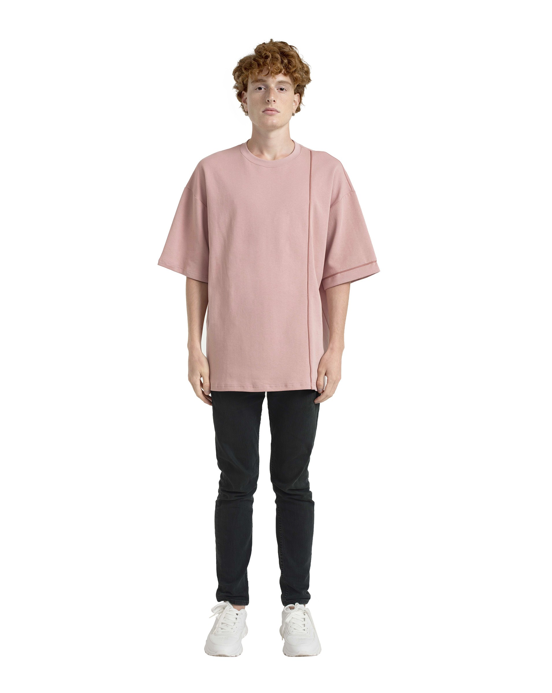 Contrast-Piped T-shirt (Unisex)