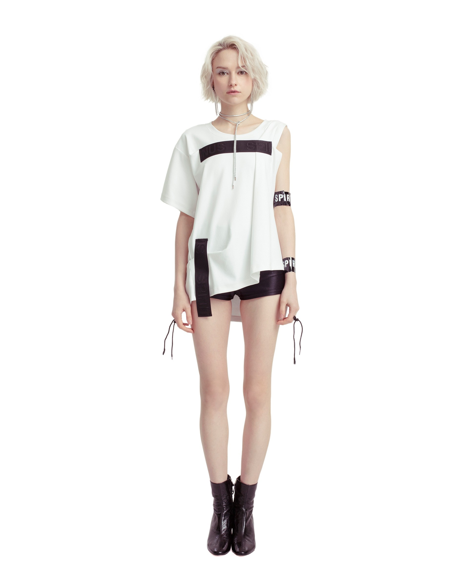 Single-Sleeve Oversized T-Shirt