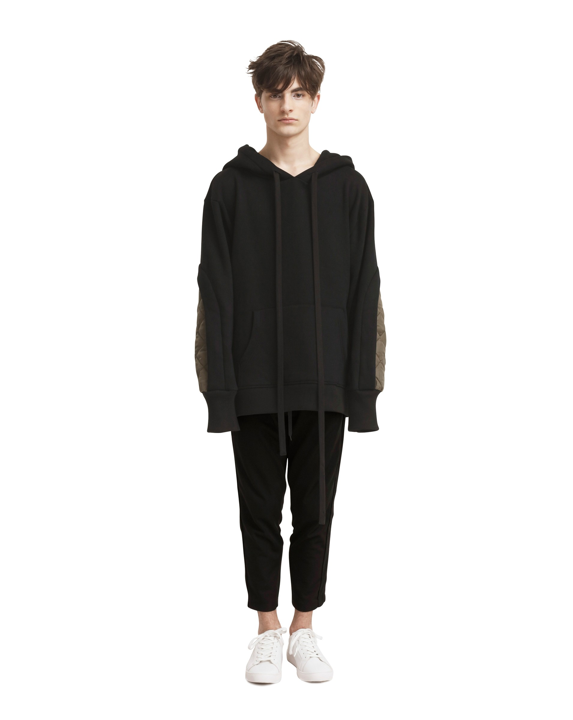 Contrast Quilted Patchwork Hoodie (Unisex)