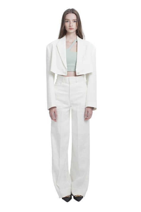 SEPARATED HIGH WAISTBAND WIDE PANTS