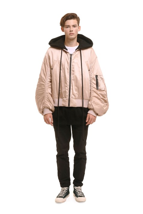 Hooded Bomber Jacket (Unisex)