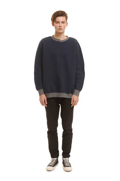 Oversized Panelled Sweatshirt (Men)