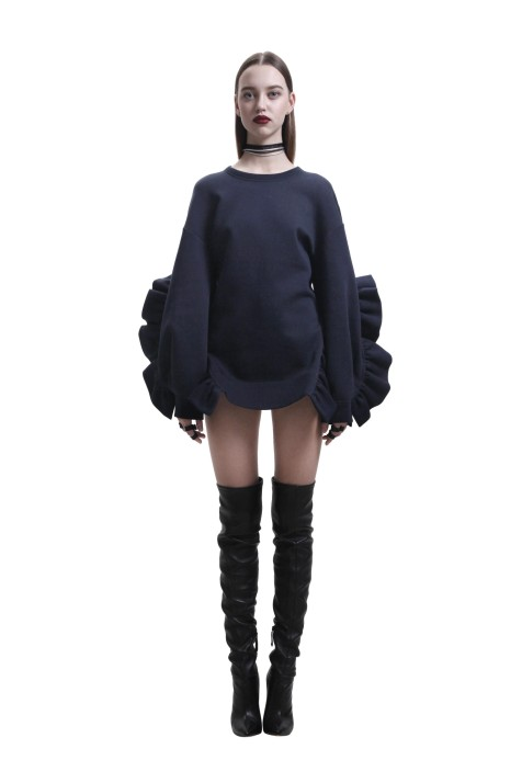Oversized Open Back Sweatshirt