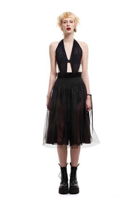 Tulle-layered Culottes
