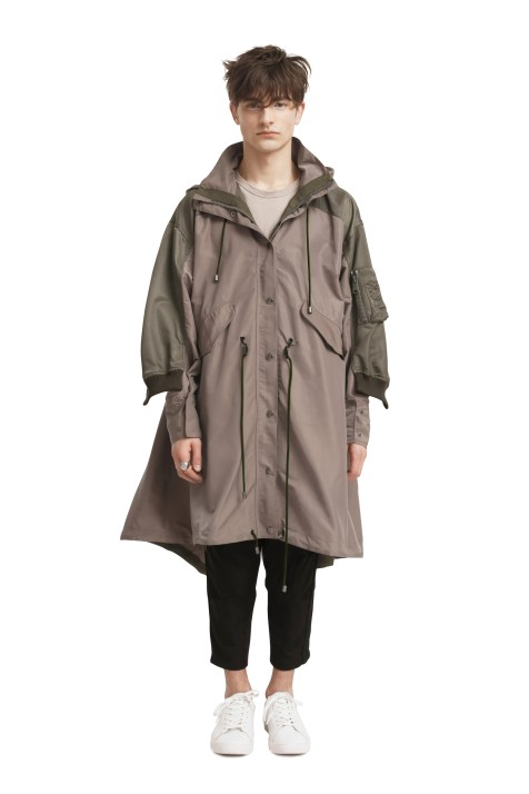 Double Over-Layered Coat (Unisex)