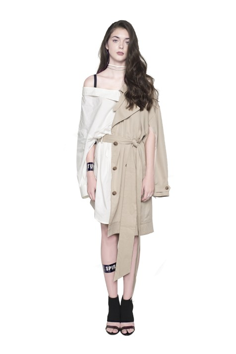 Trench Coat Styled Belted Shirt Dress